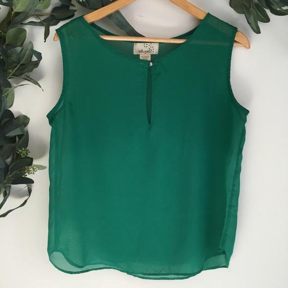 db9701207353a7 Liberty Love Tops - Liberty Love Green Silk Blouse
